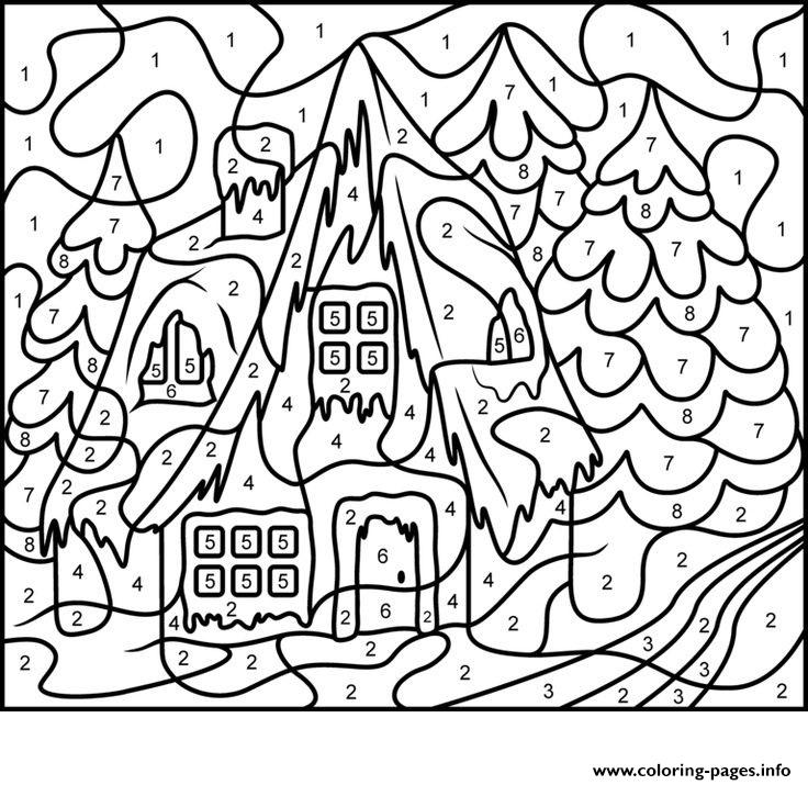 coloring pages : Color By Number Adults House Free Coloring Pagesble  1481481230color For Worksheets Color By Number For Adults Printable ~  malledthebook