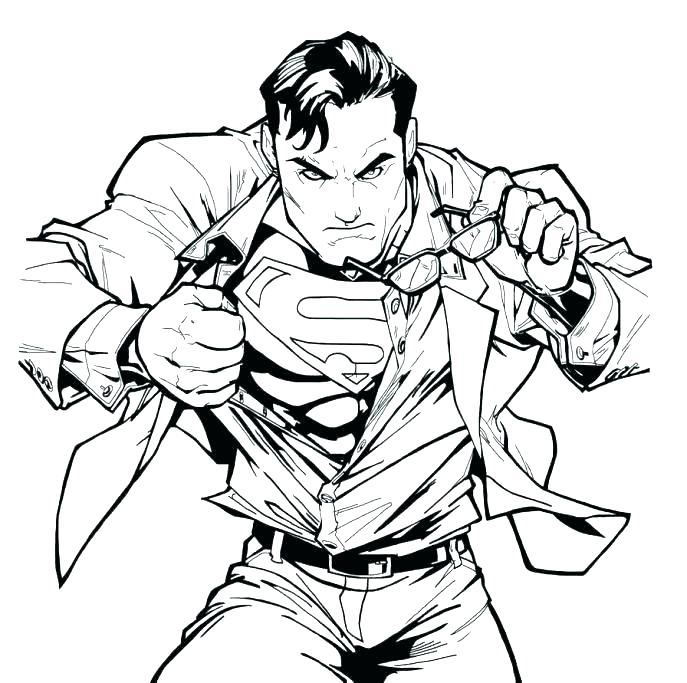 The Best Free Superman Logo Coloring Page Images Download Coloring Home
