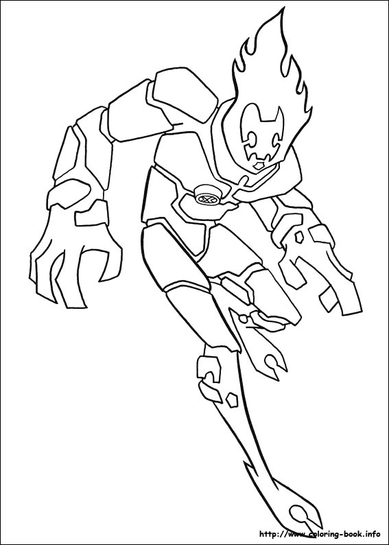 Ben 10 Coloring Pages On Coloring Book