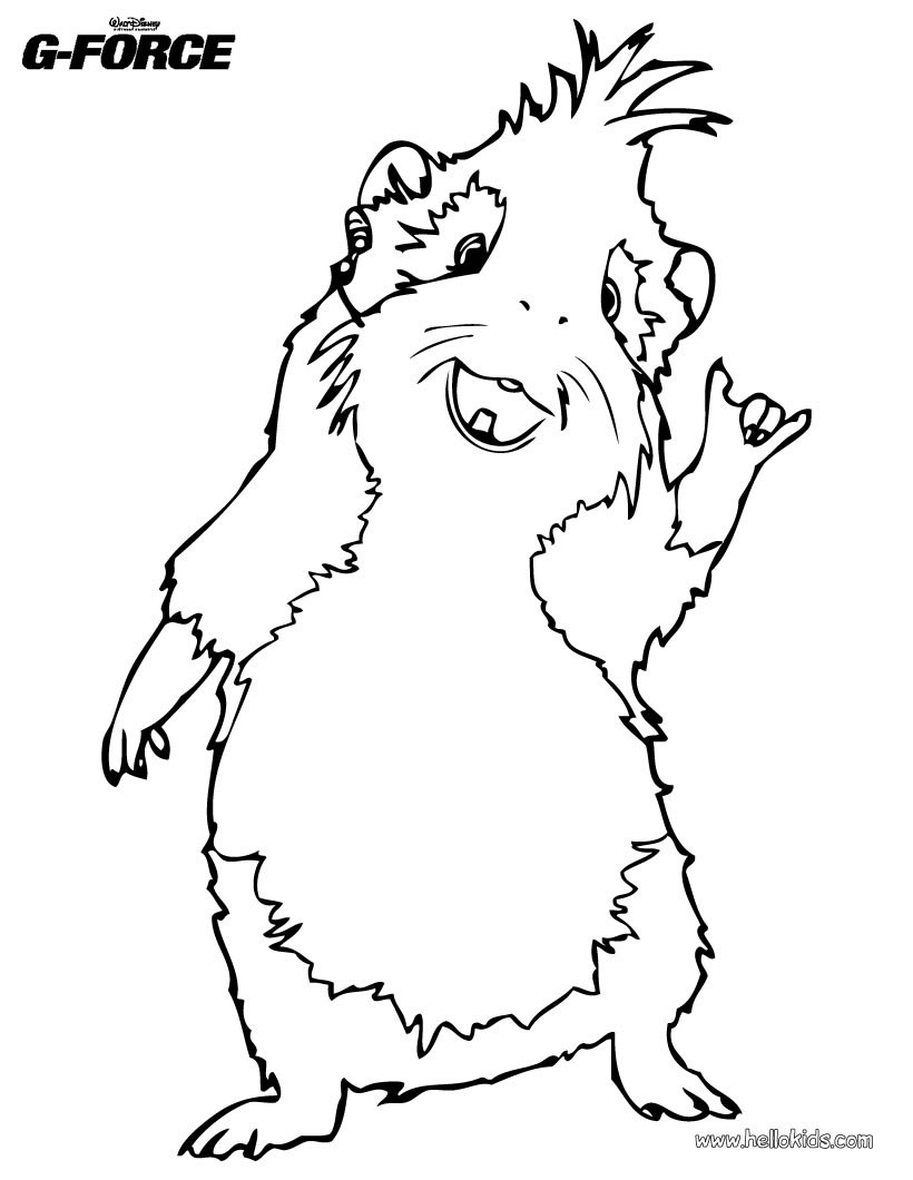 Guinea Pig Coloring Pages - Coloring Home