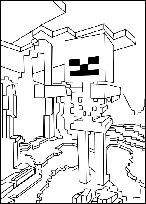 Coloring Pages And Minecraft On Pinterest
