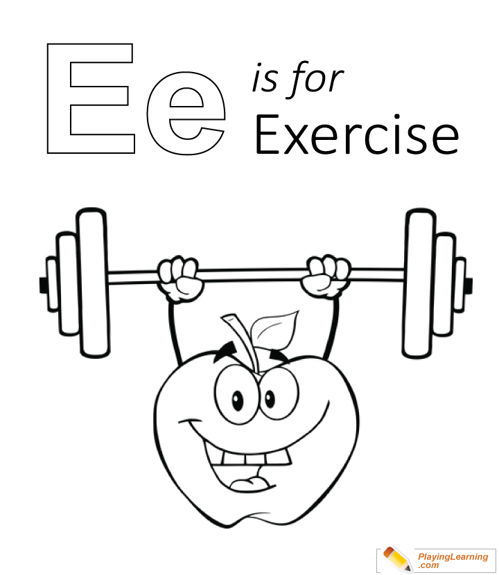 Exercise Coloring Pages - Coloring Home