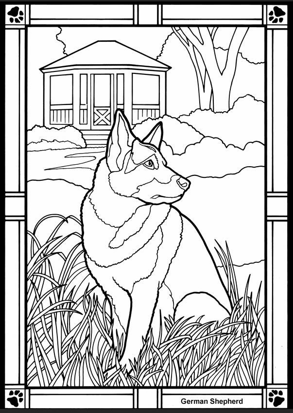 German coloring page az coloring pages for German shepherd coloring pages printable