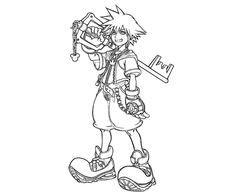 Kingdom Hearts Color Pages Coloring Home Kingdom Hearts Coloring Page
