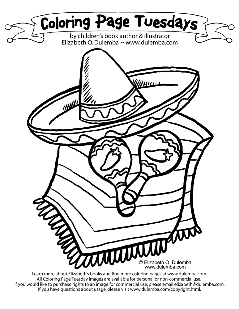 free sombrero coloring pages - photo#16