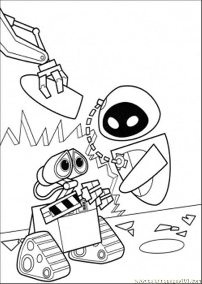 Wall E Coloring Pages Free Printable : Coloring pages eva and wall e cartoons gt free printable