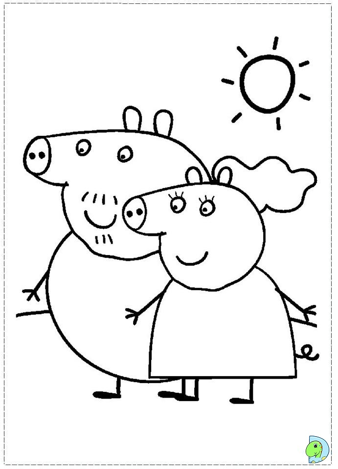 pa Peppa Pig Colouring Pages