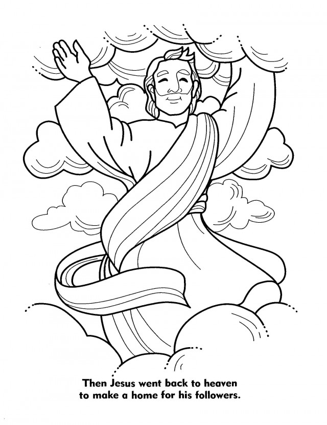 return of jesus coloring pages - photo#5