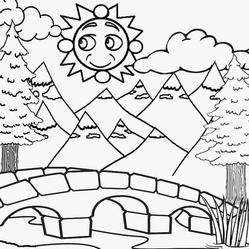 Coloring pages of mountains coloring home for Mountain coloring pages for kids