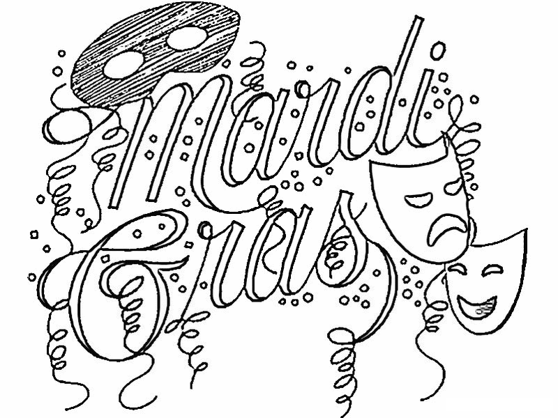 Mardi Gras Coloring Pages For Kids - Coloring Home