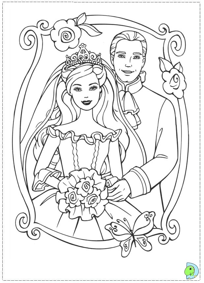 Coloring Pages Barbie Princess And The Pauper : Princess barbie coloring page az pages