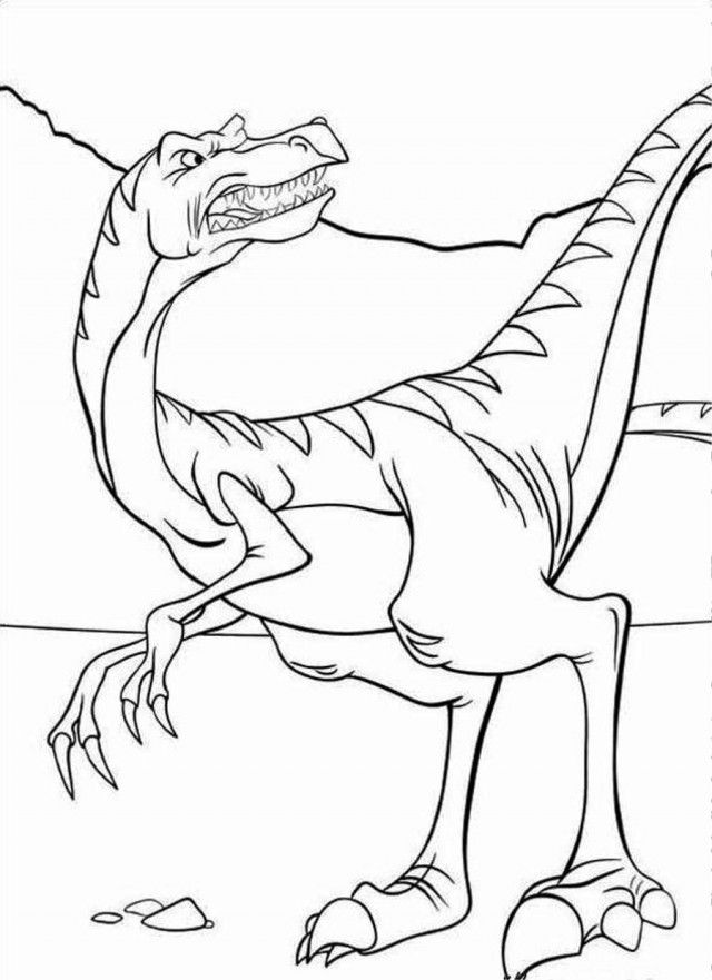 Land Before Time Coloring Pages Cute Dinosaur - Get Coloring Pages | 881x640