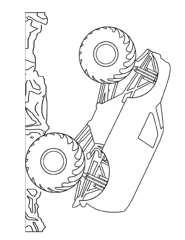 Grave Digger Monster Truck Coloring Pages Coloring Home