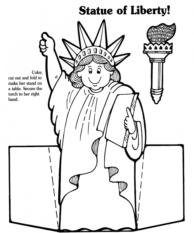 Statue Of Liberty Coloring Pages - AZ Coloring Pages