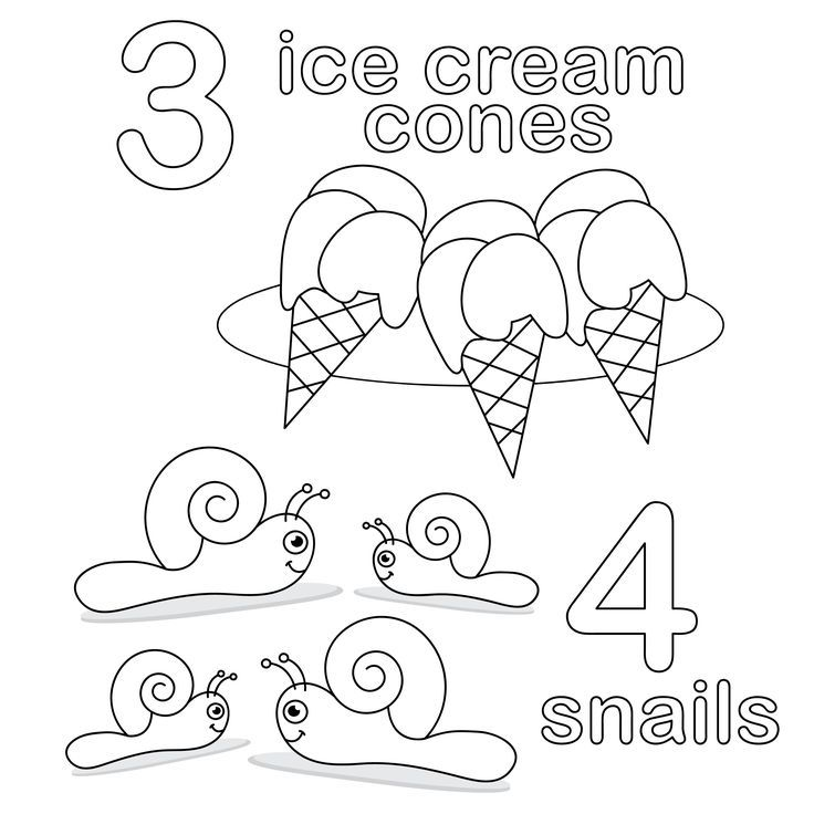 free printable counting coloring pages - photo#14