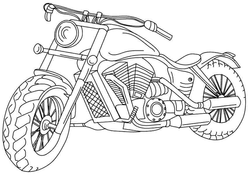 bike coloring pages - photo #30