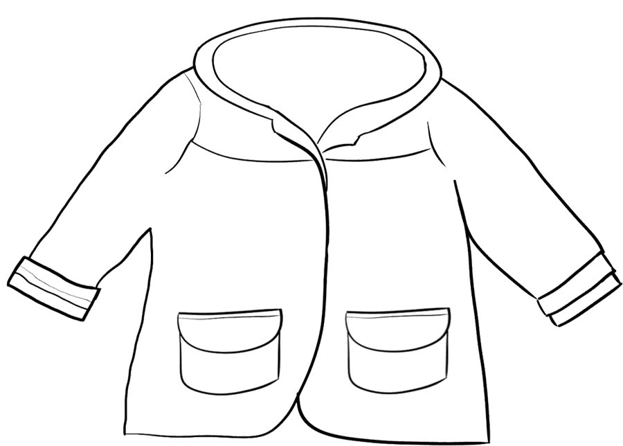 Free coloring pages of coat for Rain boots coloring page