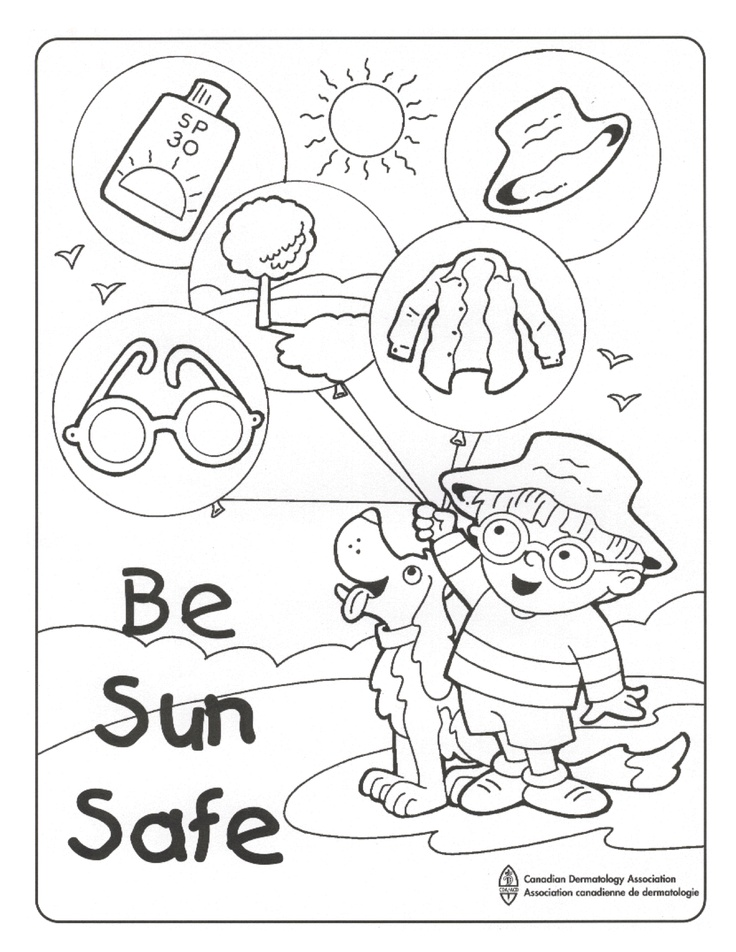 Sun Safety Coloring Pages Az Coloring Pages Safety Coloring Pages