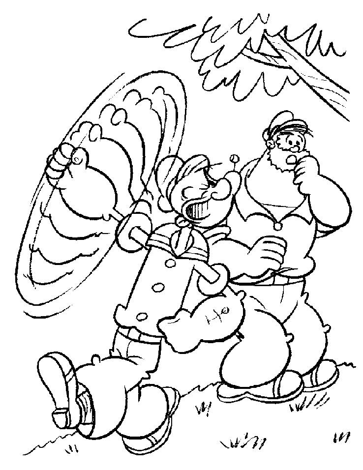 popeye olive oyl coloring pages - photo#12