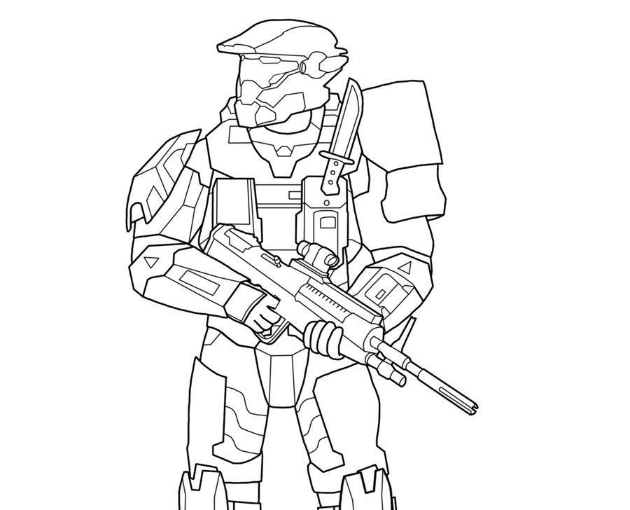 Halo Coloring Pages Master Chief