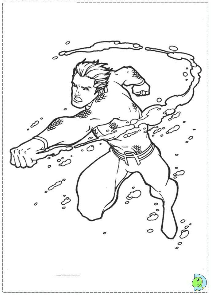 Aquaman Coloring Page- DinoKids. - AZ Coloring Pages