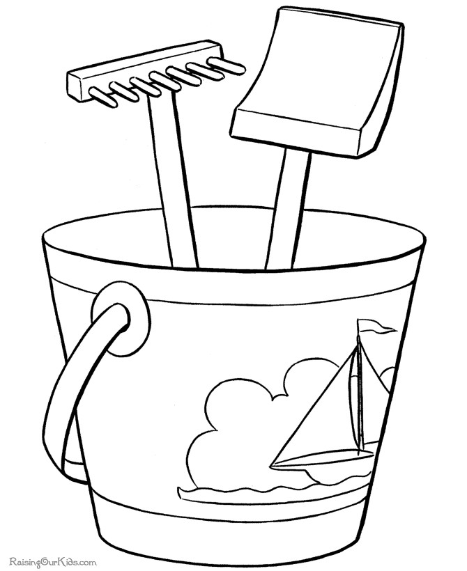 June Printable Coloring Pages Beach Coloring Pages For