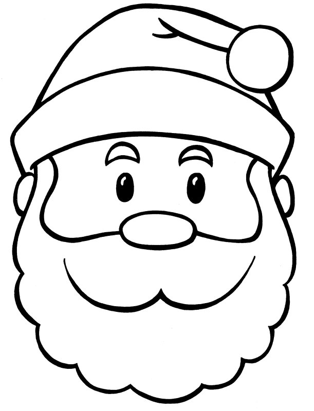 Santa Face Coloring Page | New Calendar Template Site