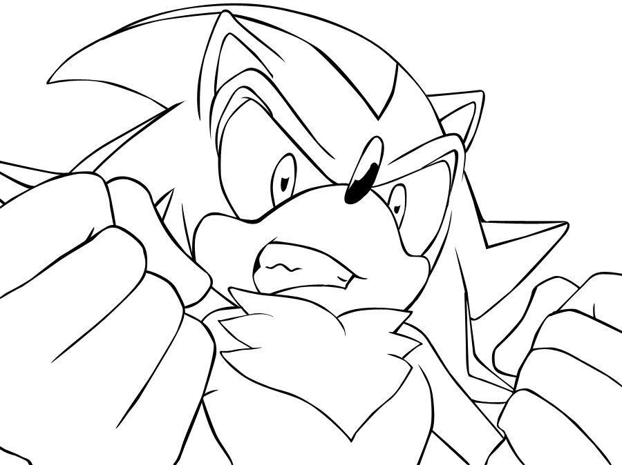 shadow and amy coloring pages - photo#30