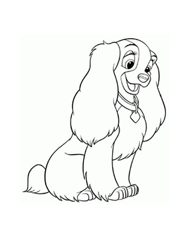 lady the tramp coloring pages - photo#34