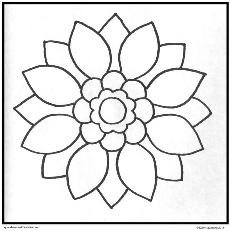 Simple Mandala Coloring Pages Coloring Home Easy Flower Coloring Pages