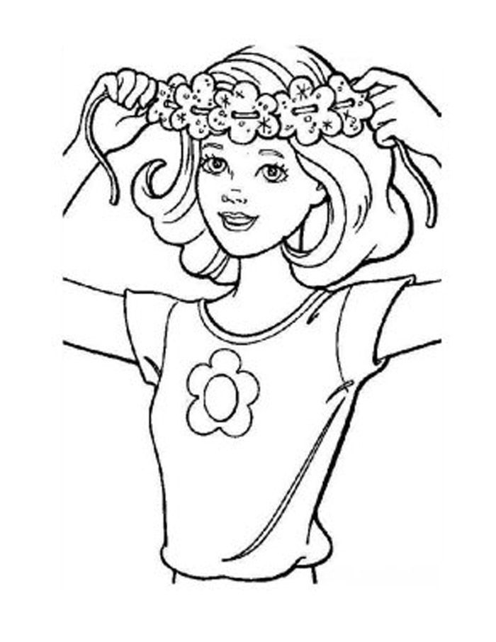 Coloring Pages Hair : Hair coloring pages az