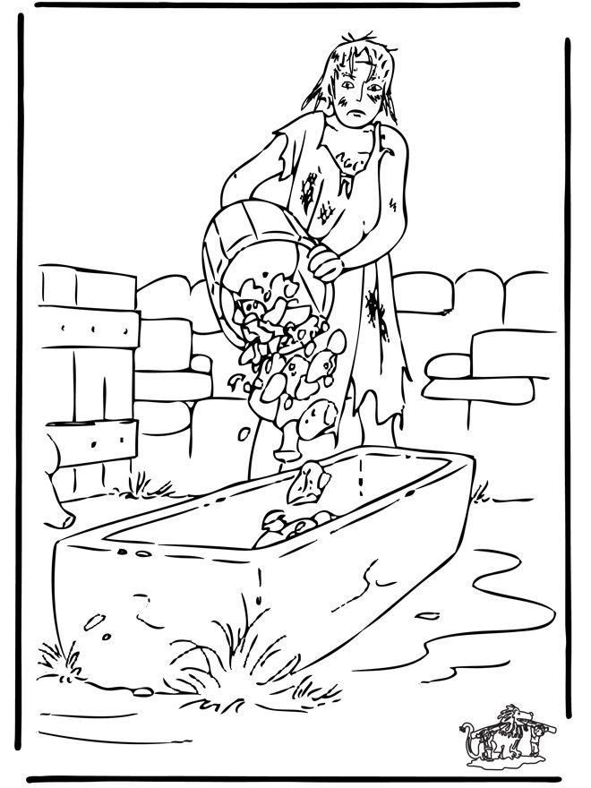 lost coin coloring pages - photo#17