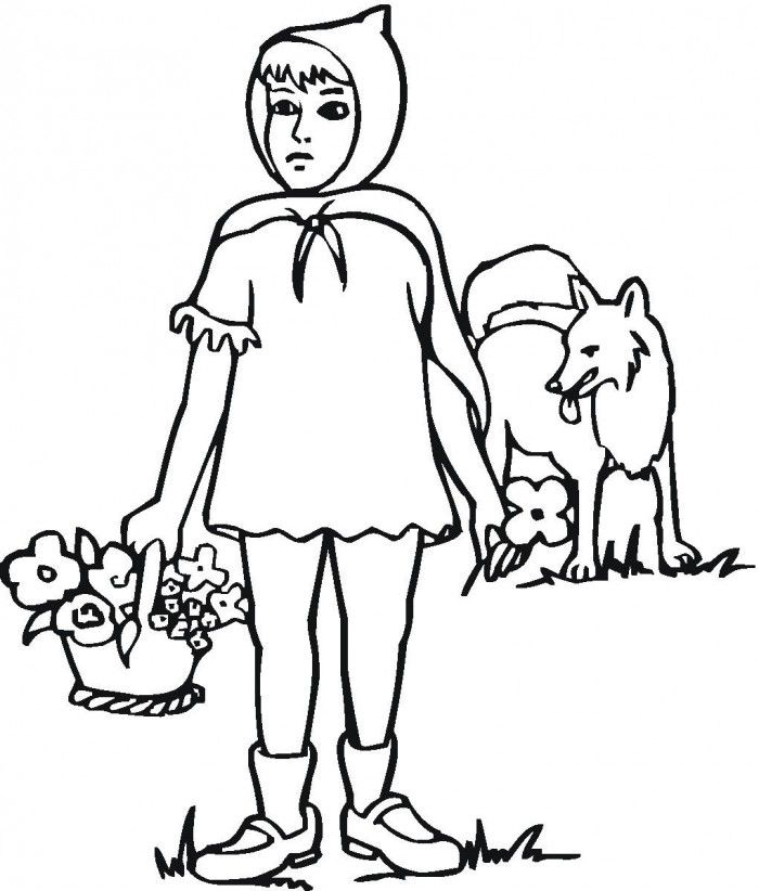 Little Red Riding Hood Coloring Pages Picture | 99coloring.com