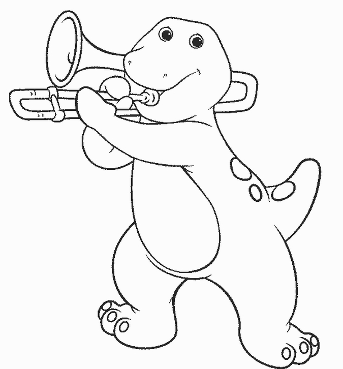 barney the dinosaur coloring pages - barney and friends coloring pages az coloring pages