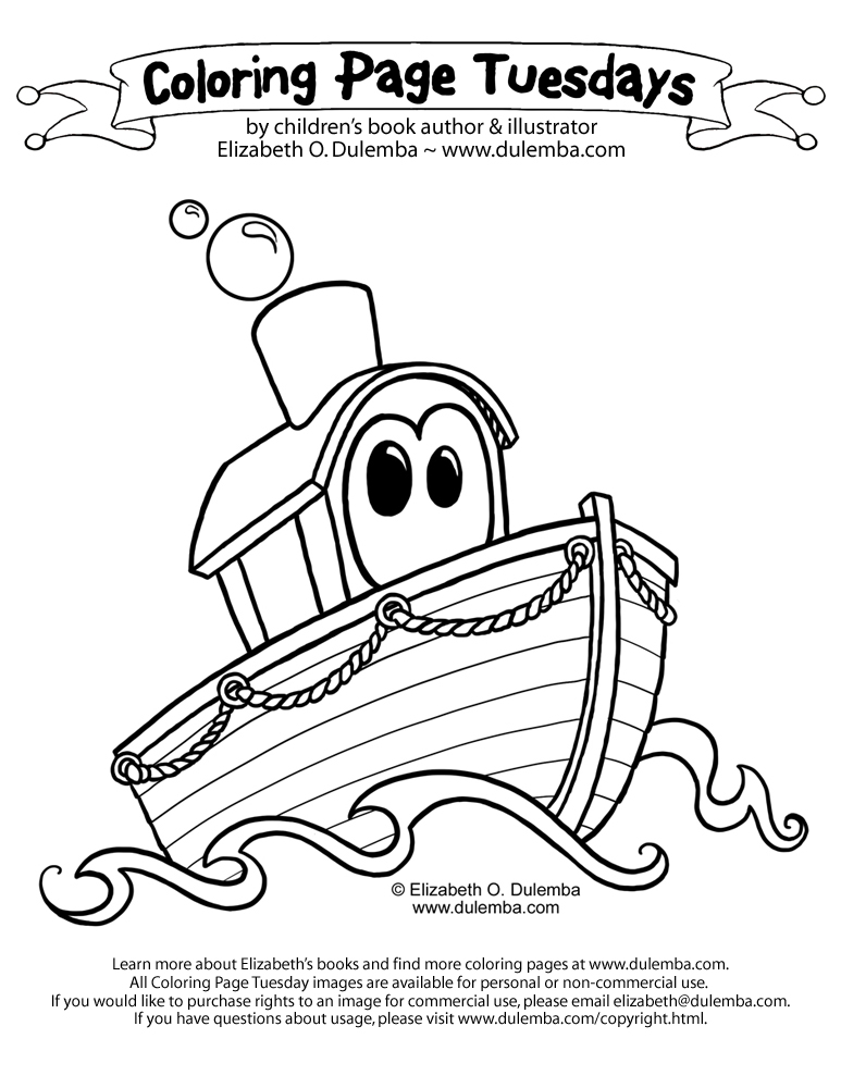 Boat coloring pages az coloring pages for Coloring page boat