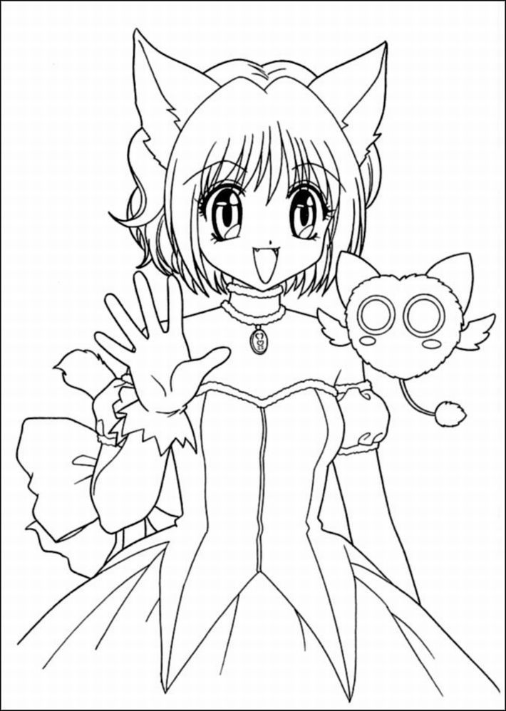 Cartoon Girl Coloring Pages  Coloring Home