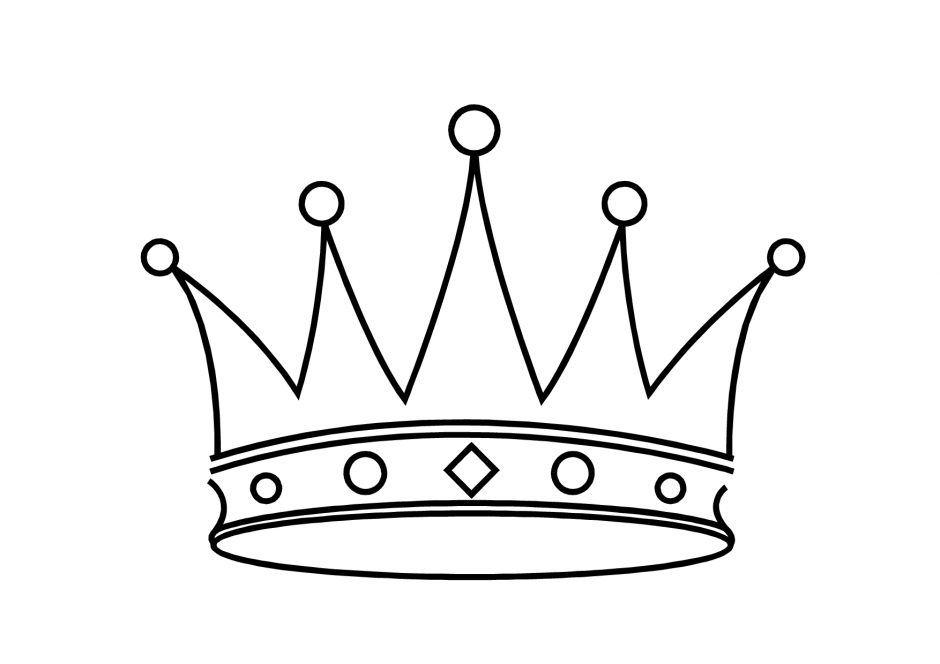 coloring pages with crowns - photo#7
