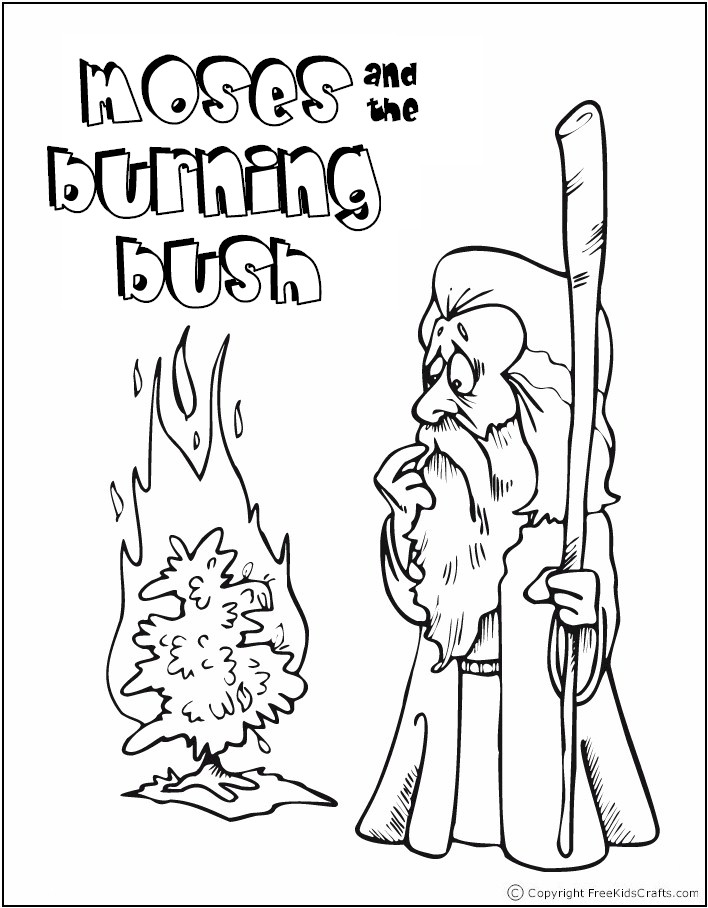 coloring pages of burning bush - photo#29