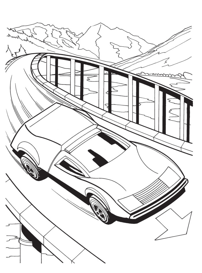 coloring pages race track - photo #4