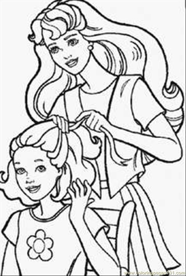 barbie dolls coloring pages free - photo#21