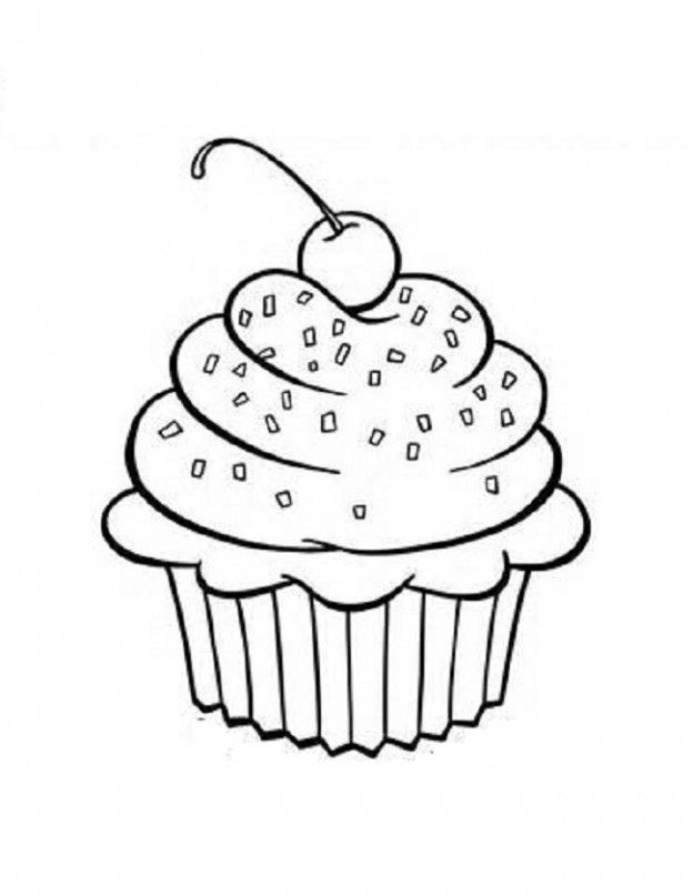 Cupcake Coloring Page Home