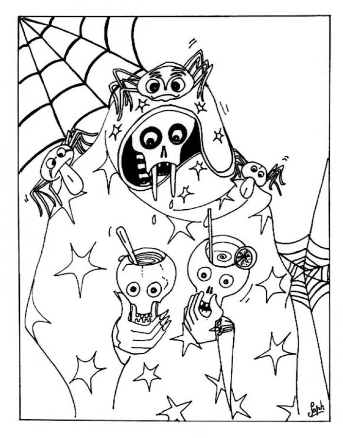Disney Halloween Coloring Pages Free - Coloring Home