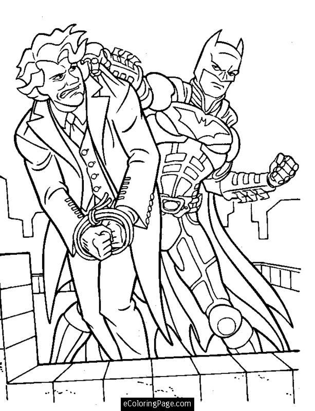 Batman Cartoon Coloring Pages #7