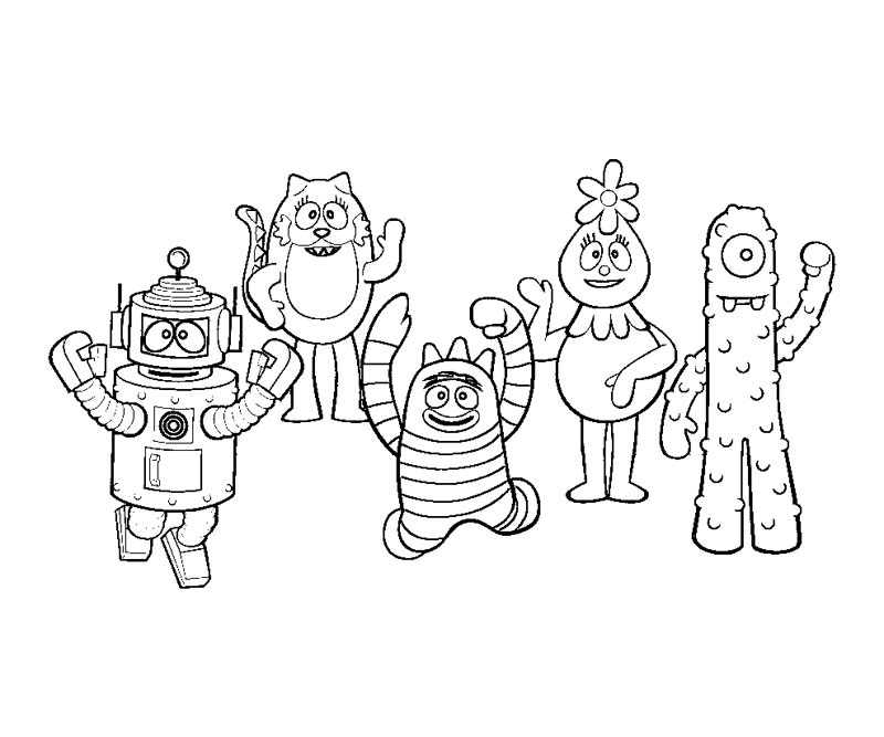 Yo Gabba Gabba Coloring Pages Printa