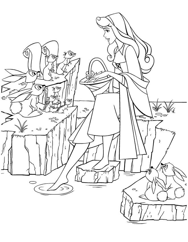 Aurora Coloring Pages With The Title Princess Aurora Coloring