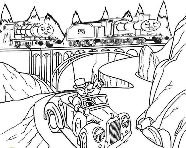 Thomas And Friends James and Percy Coloring For Kids - Thomas And