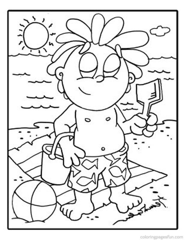 coloring pages island scene - photo#37