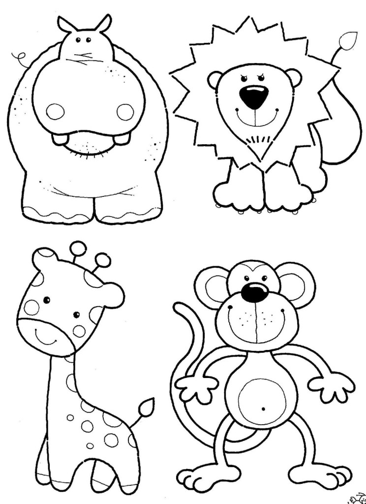 Cartoon hippo pics az coloring pages for Free printable hippo coloring pages
