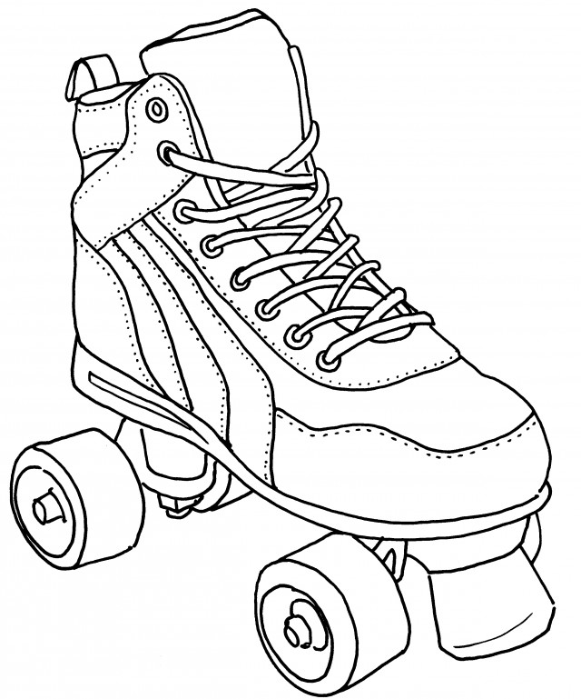 Roller Skating Coloring Pages Roller Skate Colouring