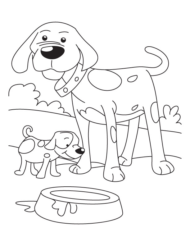 Coloring Pages Dogs Puppies
